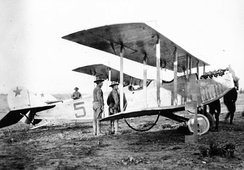 Curtiss JN-3, the progenitor of the JN-4, deployed to Mexico, around 1916[7]