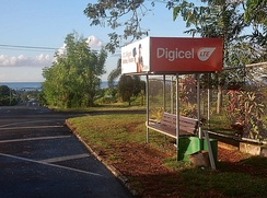 An outdoor Digicel ad on a bus shelter in Tonga.