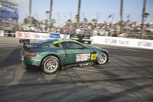 Drayson-Barwell's V8 Vantage GT2 at the car's debut, the 2008 American Le Mans Series at Long Beach.