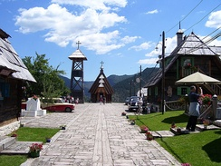 Drvengrad (also known as Mećavnik or Küstendorf), an ethno village in Serbia and home to the annual Kusturica film festival