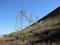 Electric tower fallen in Tenerife, Canary Islands