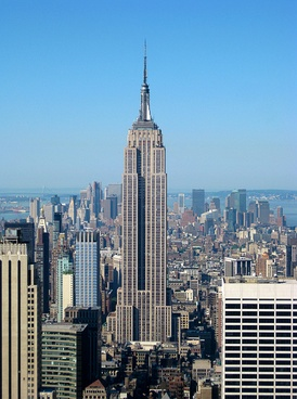 The Empire State Building seen from 30 Rockefeller Plaza, 2010