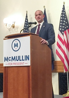 McMullin campaigning for president in Provo.