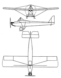 Farman F.451 3-view drawing from  L'Aerophile February 1938