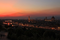 Florence at night from Piazzale Michelangelo
