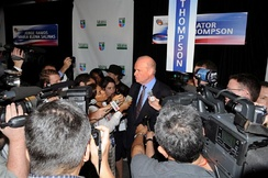 Fred Thompson in the Spin room following the debate