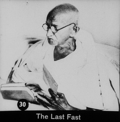 Gandhi's last political protest using fasting, in January 1948