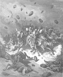 Destruction of the Army of the Amorites by Gustave Doré.