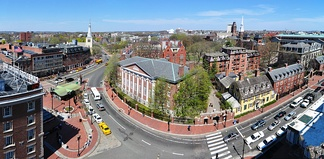 Harvard Yard as seen from Holyoke Center