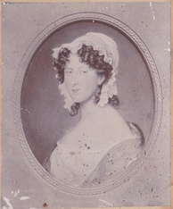 An antique photograph of a portrait of Horatia Ward née Nelson from the Style/Ward Family collection.  Horatia was the daughter of Admiral Lord Horatio Nelson and Emma, Lady Hamilton.