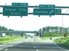 I-4 eastbound at exit 111 in Volusia County