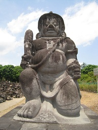 One of dvarapala statues guarding Sewu temple.