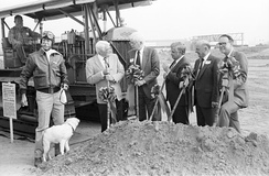 Terminal groundbreaking, October 1988