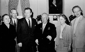 The Khrushchev family at the Waldorf Astoria in 1959