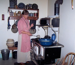 A typical rural American kitchen of 1918 at The Sauer-Beckmann Farmstead (Texas, USA)