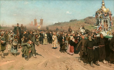 Religious Procession in Kursk Province, Tretyakov Gallery, Moscow. 175 × 280 cm