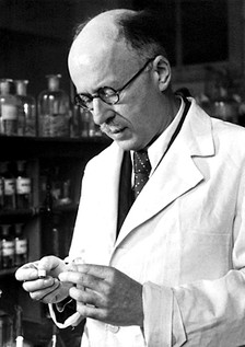 Nobel Prize winner, Leopold Ruzicka of Ciba, a pharmaceutical industry giant that synthesized testosterone.