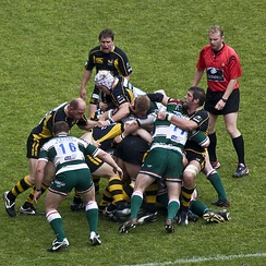 Leicester Tigers playing in the 2008 Premiership Final against Wasps.