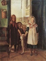 Little Girl with a Cod, Anna Ancher