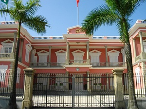 Macau Government Headquarters (1849), an example of Portuguese colonial architecture and the Pombaline style in Macau.