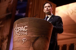 Senator Rubio speaking at the 2014 Conservative Political Action Conference (CPAC) in National Harbor, Maryland
