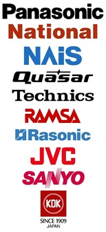 Panasonic's current and historic brands