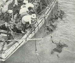Pearl fishing in the Gulf of Mannar, ca. 1926