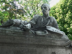 Monument at Géricault's tomb, by sculptor Antoine Étex