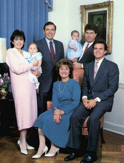 Bob Martinez and his family on his inauguration day as Governor, in January 1987.
