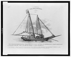 CSS Savannah, a Confederate privateer.