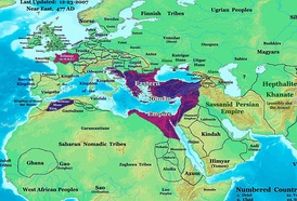 Roman and Persian Empires in 477, as well as their neighbors, many of whom were dragged into wars between the great powers[discuss]