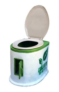 The latest version of SOIL's EkoLakay container-based toilet.