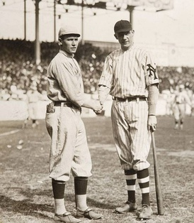 Smoky Joe Wood and Rube Marquard during the 1912 World Series