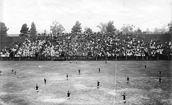 Stanford rugby team playing the All Blacks in 1913