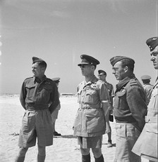 George II during his visit to a Greek fighter station, 1944