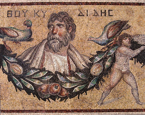 Thucydides Mosaic from Jerash, Jordan, Roman, 3rd century AD at the Pergamon Museum in Berlin