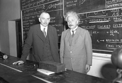 Richard C. Tolman and Albert Einstein at Caltech, 1932