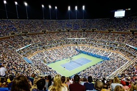 Arthur Ashe Stadium interior, US Open 2014