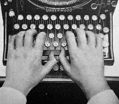 "The ""QWERTY"" layout of typewriter keys became a de facto standard and continues to be used long after the reasons for its adoption (including reduction of key/lever entanglements) have ceased to apply."