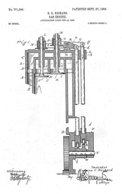 Valve-In-Head (OHV) engine, illustration from 1904 patent, Buick Manufacturing Company