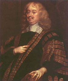 Edward Hyde, 1st Earl of Clarendon (1609–1674), Charles II's Lord Chancellor from 1658 to 1667. Ashley clashed with Clarendon throughout the 1660s, but Ashley refused to support the impeachment of Clarendon in 1667.