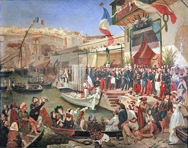 Arrival of Marshal Randon in Algiers in 1857, by Ernest Francis Vacherot