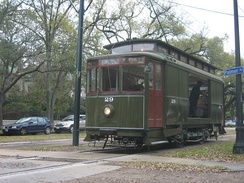 The last 19th century Ford Bacon & Davis car (Ole 29), still in work car service on St. Charles Avenue, 2008.