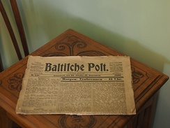 """Baltische Post"" was a German language newspaper in Riga during the early 20th century."