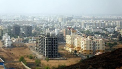 Baner: a recently developed suburb of Pune.