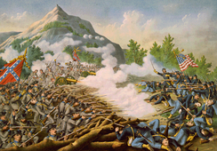 The Battle of Kennesaw Mountain, on June 27, 1864