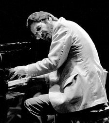 Bill Evans performing at the Montreux Jazz Festival.