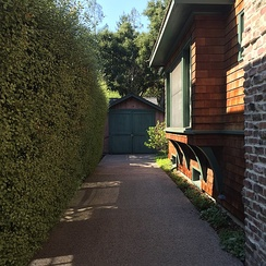 "The ""Birthplace of Silicon Valley"" garage in Palo Alto, where William Hewlett and David Packard started developing their audio oscillator in 1938 (photographed 2016)"