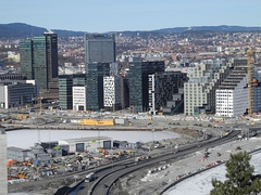 Downtown Oslo skyline