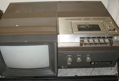 Technicolor CVC Videocassette recorder with monitor